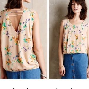 Anthropologie shirt top Meadow Rue Pleated Petals